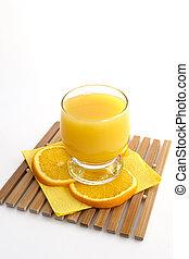 naranja, freshening, jugo