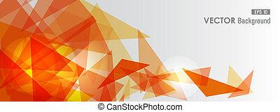 naranja, geométrico, transparency.