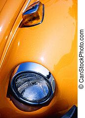 naranja, guardabarros coche