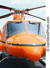 naranja, helicóptero