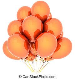 naranja, helio, globos, (hi-res)