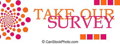 naranja, horizontal, rosa, nuestro, encuesta, toma