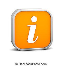 naranja, información, señal
