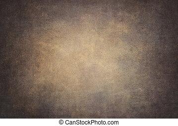 naranja, marrón, algodón, plano de fondo, entregue pintado