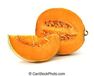 naranja, melón de agua