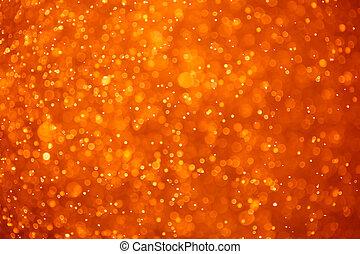 naranja, partículas, resumen, plano de fondo
