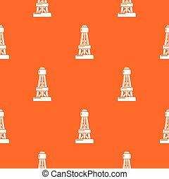 naranja, patrón, línea, vector, potencia