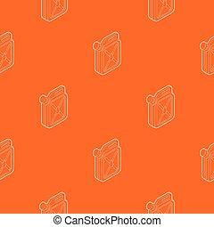 naranja, patrón, vector, jerrycan