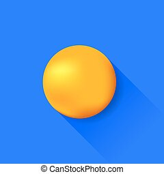 naranja, pelota