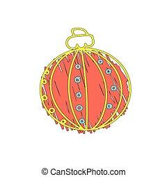 naranja, pelota, navidad