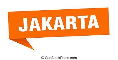 naranja, poste indicador, indicador, señal, yakarta, sticker...