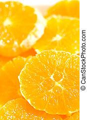 naranja, rebanadas