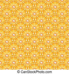 naranja, rebanadas, seamless