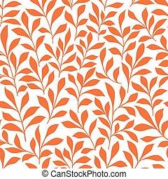 naranja, salvaje, hierbas, seamless, patrón