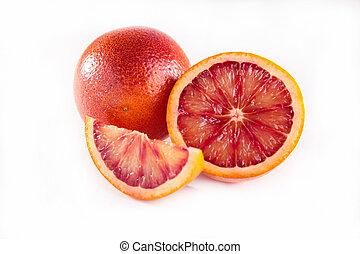 naranja, sangre