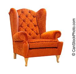 naranja, sillón