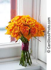 naranja subio, ramo de la boda
