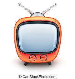 naranja, televisión