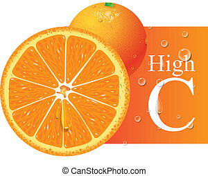 naranja, vector