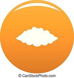 naranja, vector, tormenta, icono