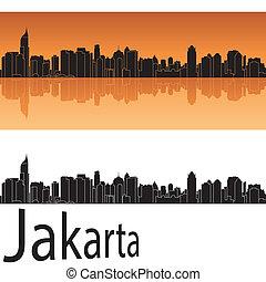 naranja, yakarta, contorno, plano de fondo