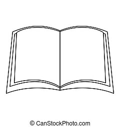 Narative book icon, outline style.