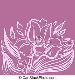 narcis, voorjaarsbloem, drawing., tatoeëren