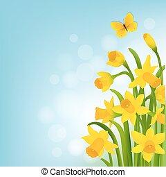 narciso, primavera, carrello