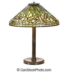 narciso, vetro, grande, lampada tavola