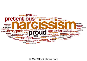 Narcissism word cloud