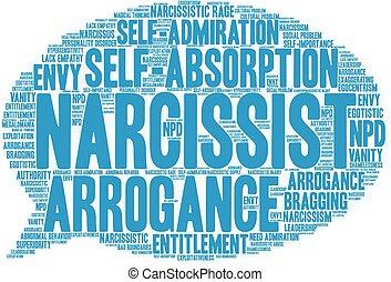 narcissist, 単語, 雲