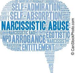 narcissistic, 単語, 濫用, 雲