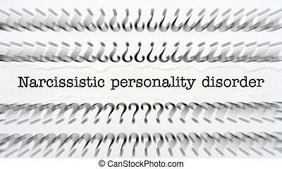 narcissistic, 無秩序, 人格