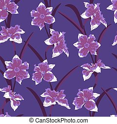 narcissus seamless vector pattern