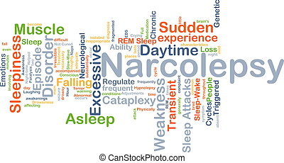 Narcolepsy background concept - Background concept wordcloud...