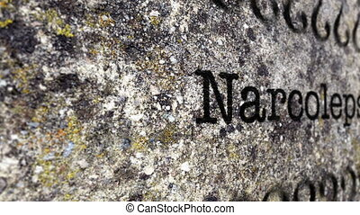 Narcolepsy grunge concept
