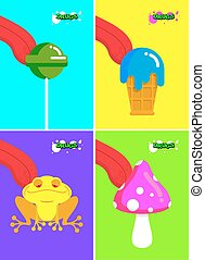 Narcotic substances. Acidic lollipop and Frog. Narcotic...