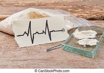 Narcotics addiction harms heart.