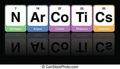 Narcotics Concept Vector - Medical Vector Of Periodic Table...