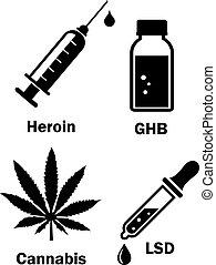 Narcotics drug vector icon