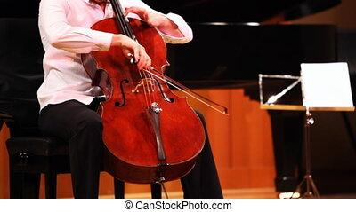 Narek Hakhnazaryan plays cello in Museum of Musical of Culture named Glinka