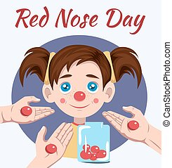 nariz, vermelho, dia