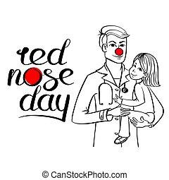 nariz, vermelho, doutor