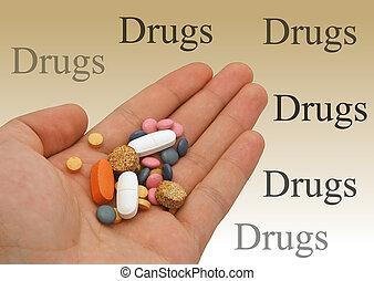 narkotikaer hånd, -, isol