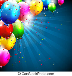 narozeniny, barvitý, grafické pozadí