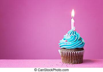 narozeniny, cupcake