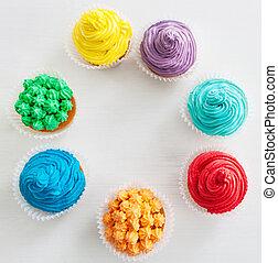 narozeniny, cupcakes, šťastný
