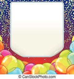 narozeniny, design, grafické pozadí, šťastný