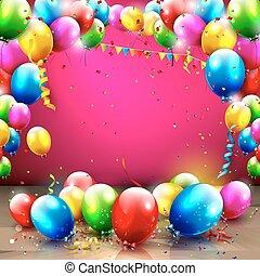 narozeniny, grafické pozadí