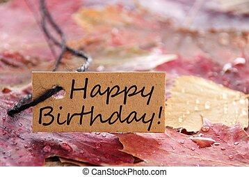 narozeniny, prapor, šťastný